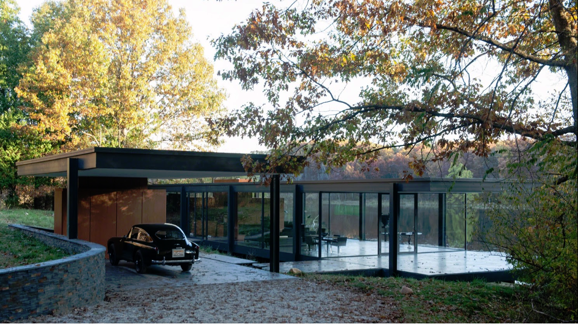 Bruce Wayne House By The Lake Architecture House Architecture Glass House