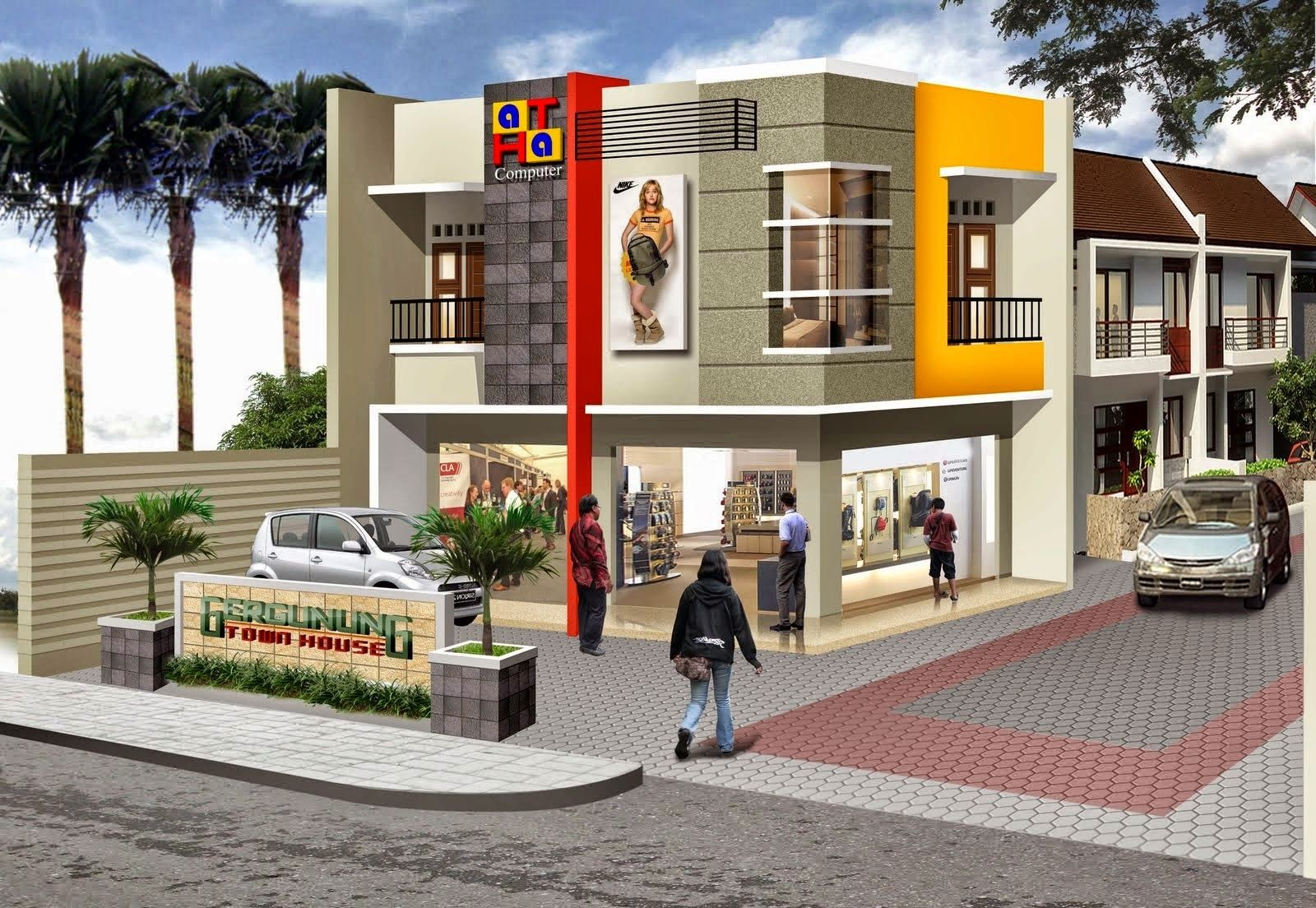 The 2 Storey Shophouse Image Design Nyoke House Design Building Design Facade House Commercial Building Plans