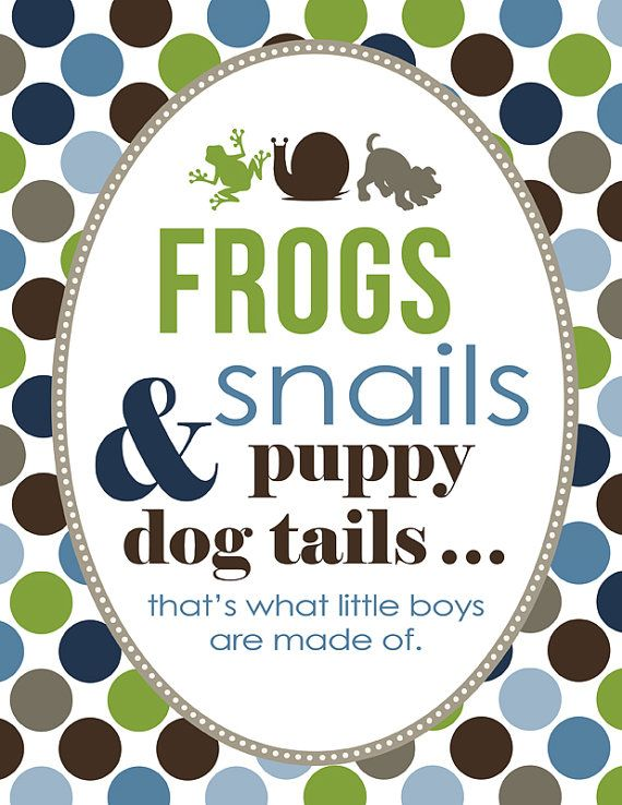 Frogs Snails And Puppy Dog Tails Baby Shower Party Pack Party