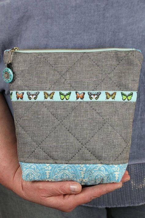 Coser la bolsa de cosméticos Molly: instrucciones de imagen sin patrón de costura
