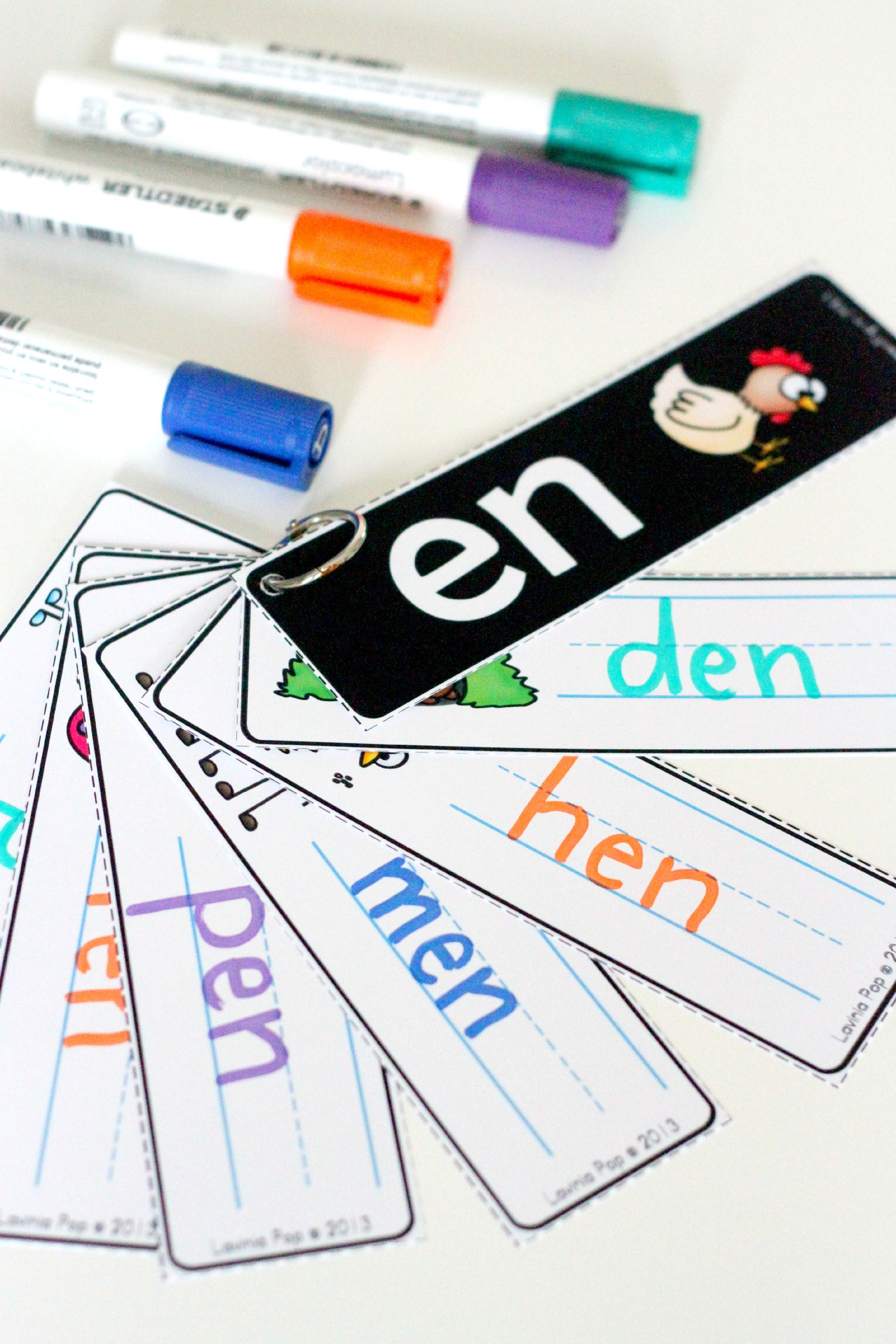 Word Families Write And Wipe Cards Cvc And Ccvc Words