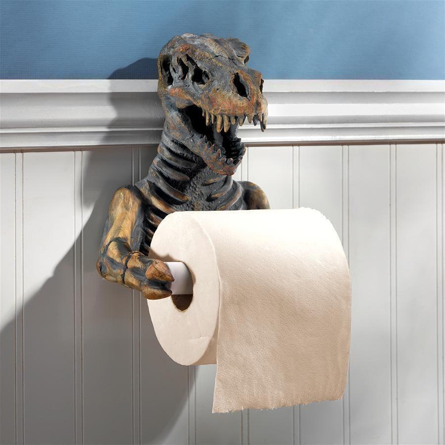 Photo of T. Rex Dinosaur Skeleton Bathroom Toilet Paper Holder