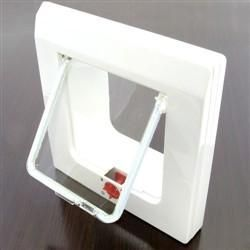 Have a big day at Uni and are afraid how the cat will eat? Don't Fear, here is a cat flap you can attach to your fridge for the well house trained companion.