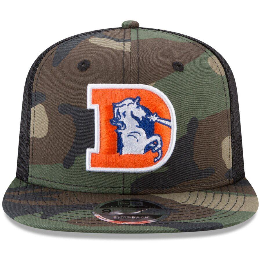 Denver Broncos New Era Throwback Logo Trucker 9FIFTY