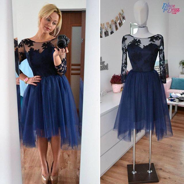 ac129ab36183 Dark Navy Lace Homecoming Dress,Sexy Party Dress,Charming Homecoming Dress ,Cheap…