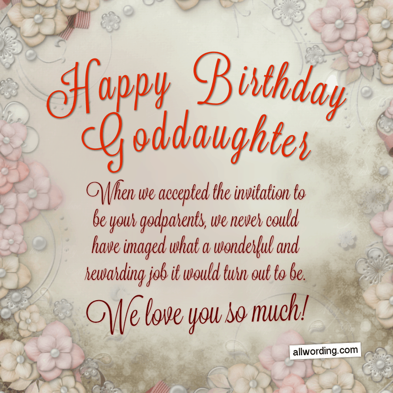 25 Ways To Say Happy Birthday To A Goddaughter Birthday Message For Daughter Birthday Wishes For Myself Birthday Quotes Funny