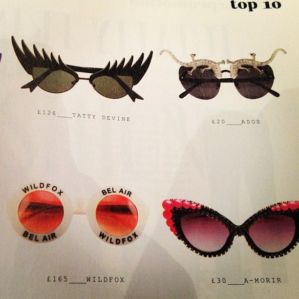 Who spotted our Eyelash Sunglasses, £125.00, in @Company Magazine's Top Ten Bonkers Sunnies List?