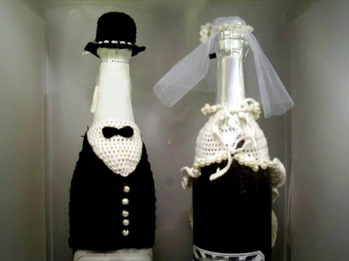 Fundas A Crochet Para Botellas De Vino Imagui Bottles