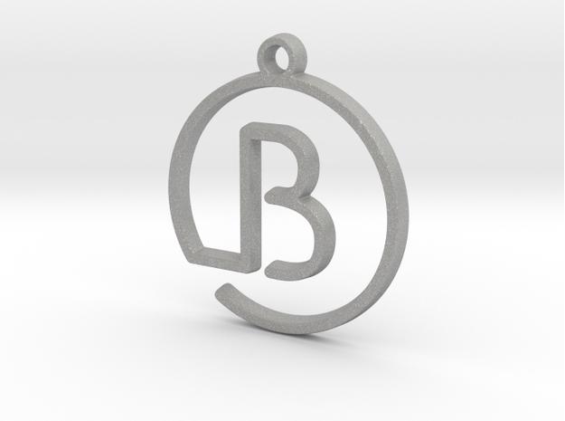 B Monogram Pendant by Jilub