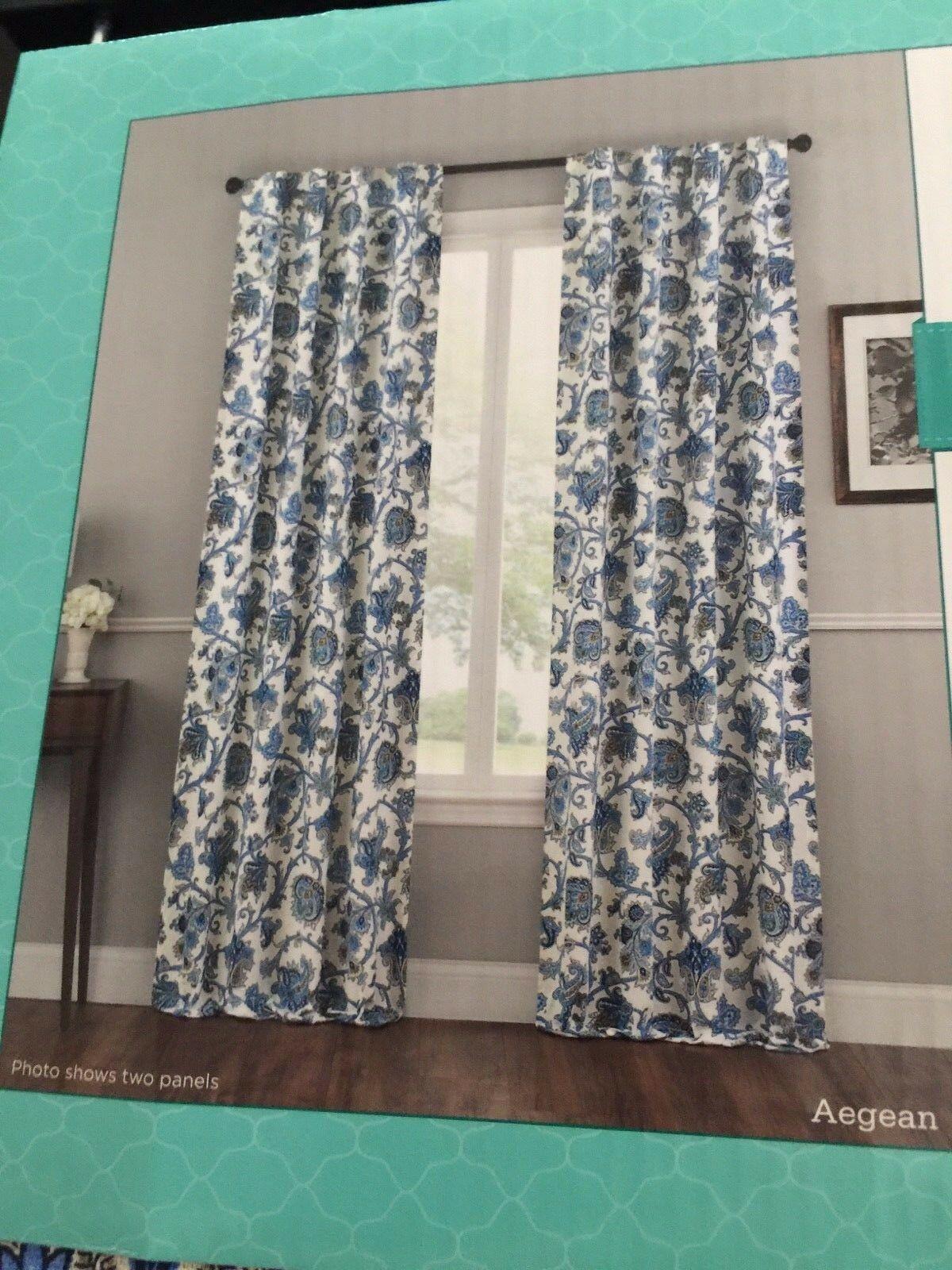 Waverly Window Panels Drapes Tennyson Set Of 4 Back Tab New Cotton