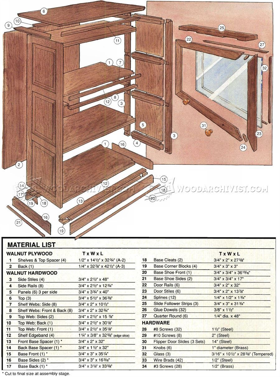 Barristers Bookcase Plans Furniture