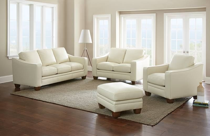 Cream Leather Sofa A Great Choice For Modern Homes Cream Leather Sofa Living Room Leather Leather Living Room Furniture