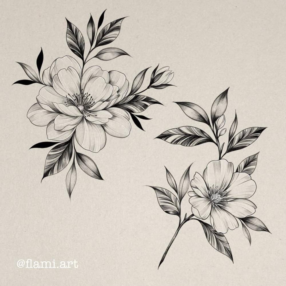 Vchiesa Vechiesa Fotos E Videos Do Instagram Floral Thigh Tattoos Flower Tattoo Sleeve Flower Tattoo Drawings