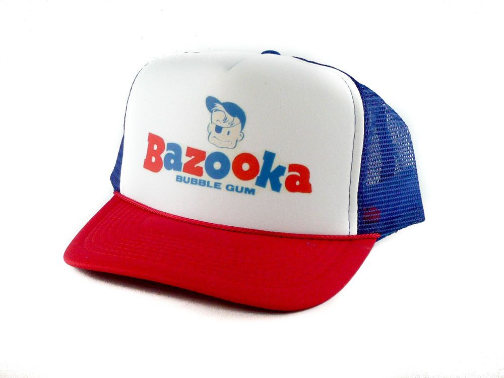 a9c6c762fa9 Vintage Bazooka Bubble Gum Trucker Hat mesh hat snapback hat rwb  Unbranded   TruckerHat