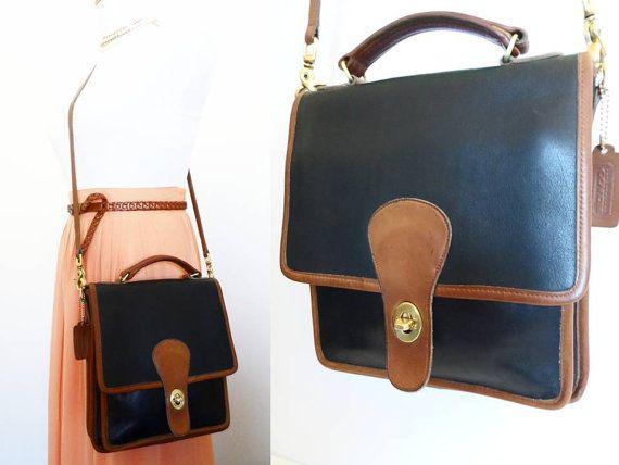 Vintage Coach Black Tan Station Bag 5130 Hipster by hanniandmax, $189.00
