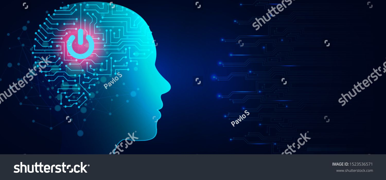 Artificial Intelligence Concept Virtual Technology Web Background
