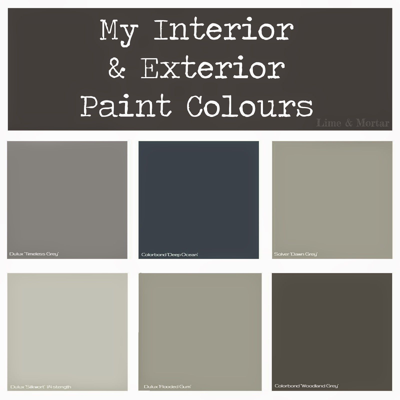 Dulux Most Popular Grey Paint Colours: Lime & Mortar: My Paint Colours
