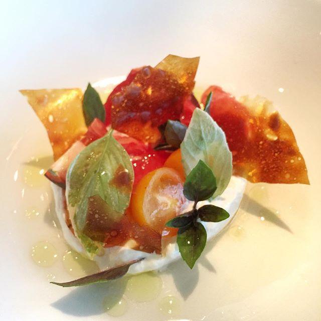 Burrata, @urbanharvesthouston tomatoes, #eatdrinkexperience garden basil, #nobletonic04 mexican olive oil #ede #fan