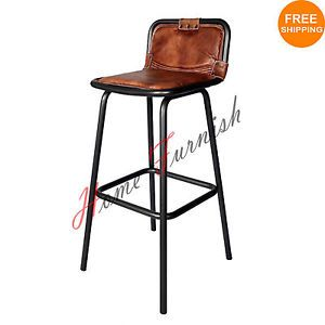 Outstanding Bar Counter Stool Leather Seat Restaurant Bar Stools Vintage Gmtry Best Dining Table And Chair Ideas Images Gmtryco