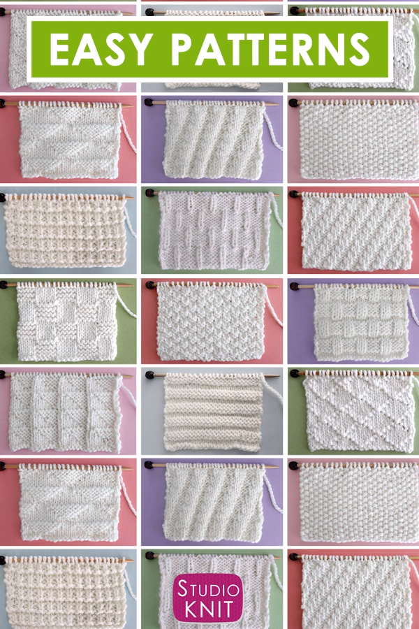 Knit Stitch Patterns for Beginning Knitters