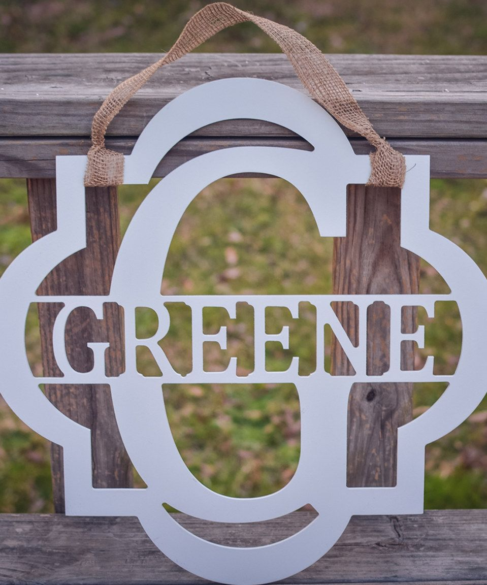 Look at this #zulilyfind! Framed Surname Personalized Wall Sign by Greens Mill #zulilyfinds