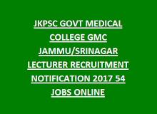 Jkpsc Govt Medical College Gmc Jammu Srinagar Lecturer Recruitment