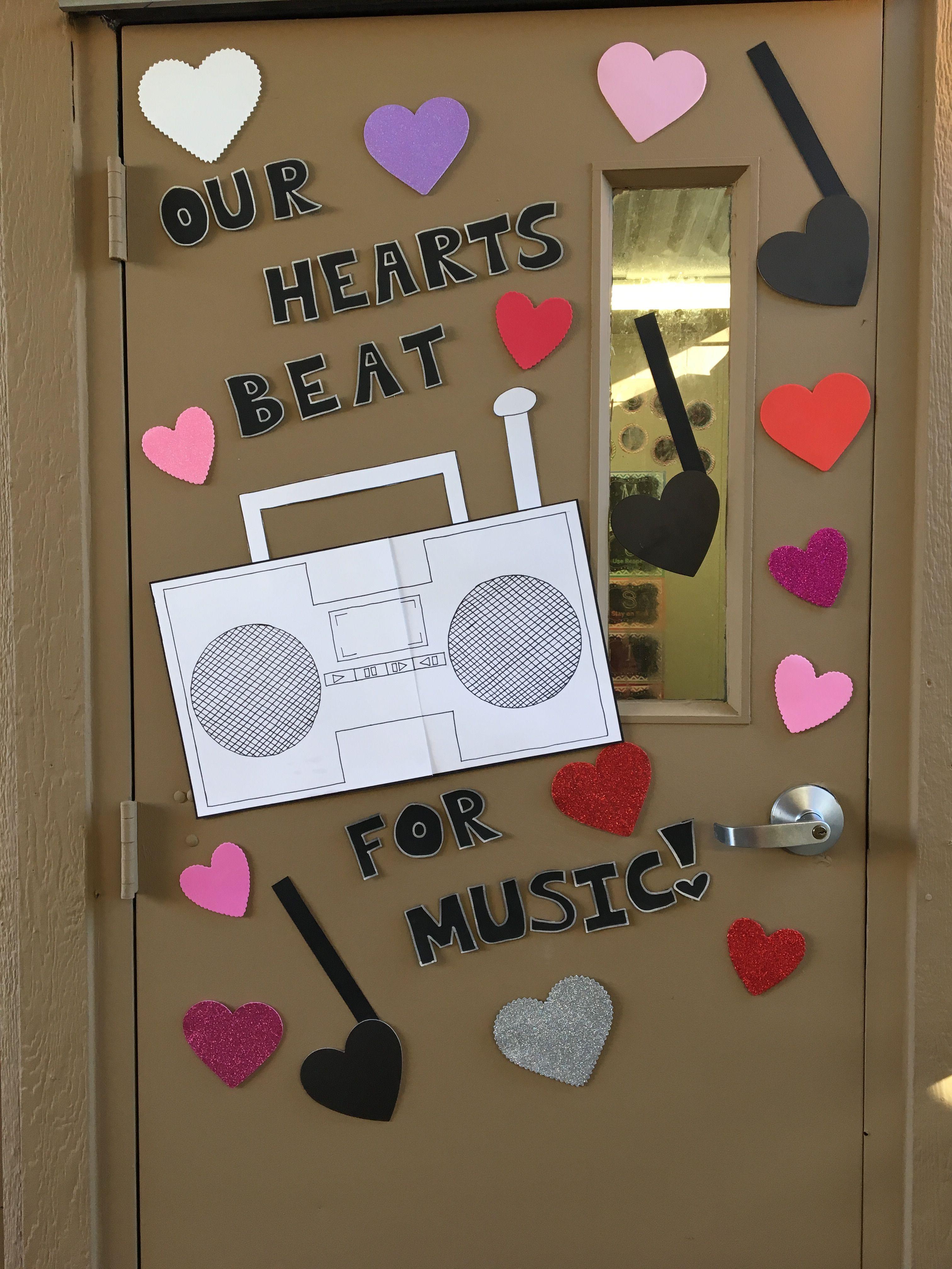Music class Valentine s Day door decoration