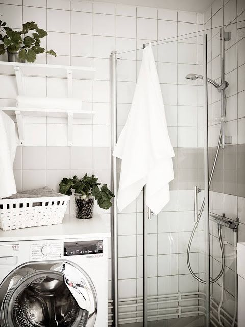 Renovar vivienda para vender #hogar #decoración #home #deco #nórdico #escandinavo #estilo #blanco #negro #madera #baño #lavadora www.hogardiez.com