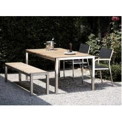 Photo of Stainless steel garden tables