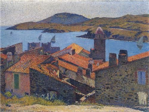 Collioure And Red Roofs Henri Martin Frankrijk
