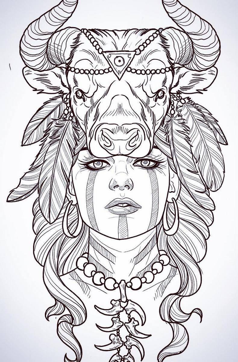 Татуировки трафареты для девушек