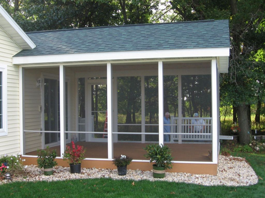 Back porch roof ideas - Easy Screened In Porch Ideas And Photos Porch Designs
