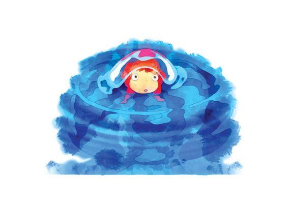 Studio Ghibli Ponyo prints digital printable art art