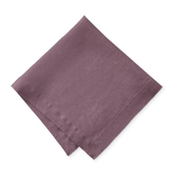 Over-Sized Signature Italian Washed Linen Napkins, Set of 4 #thanksgivingtablesettings