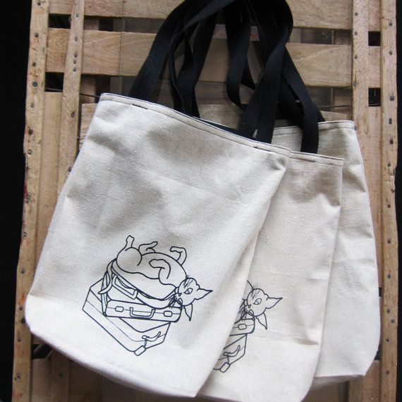 Handmade Screen Printed Cotton Tote Bag with by MadelineSteimleArt, $20.00