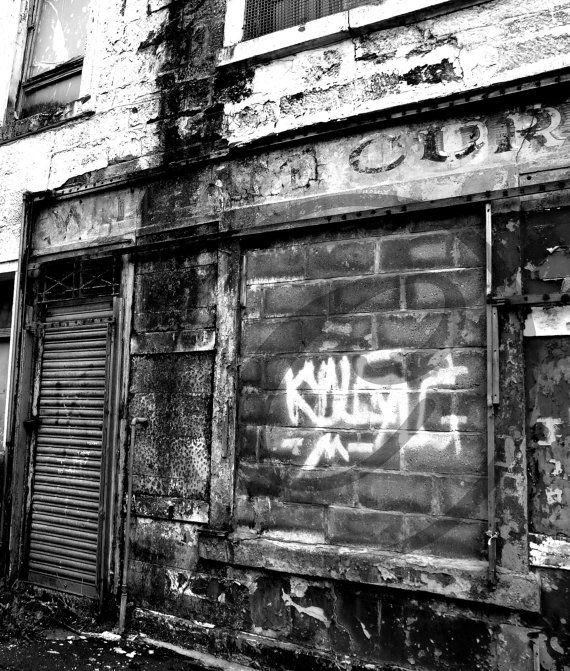 Photography, Urban Decay Glasgow Scotland, Fine Art Print