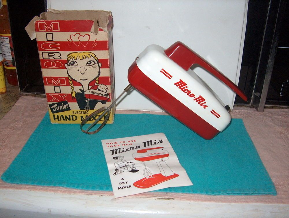 VINTAGE MICRO MIX JUNIOR ELECTRIC HAND MIXER BATTERY
