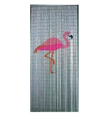 Flamingo Is A 90 X 200cm Big Bead Door Curtain Featuring A Pink Flamingo On  A