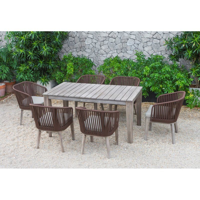Perfect Summer Gatherings Happen Around A Stylish Outdoor Dining Set The Functional And Weather Resist Outdoor Dining Set Brown Dining Table Patio Dining Set