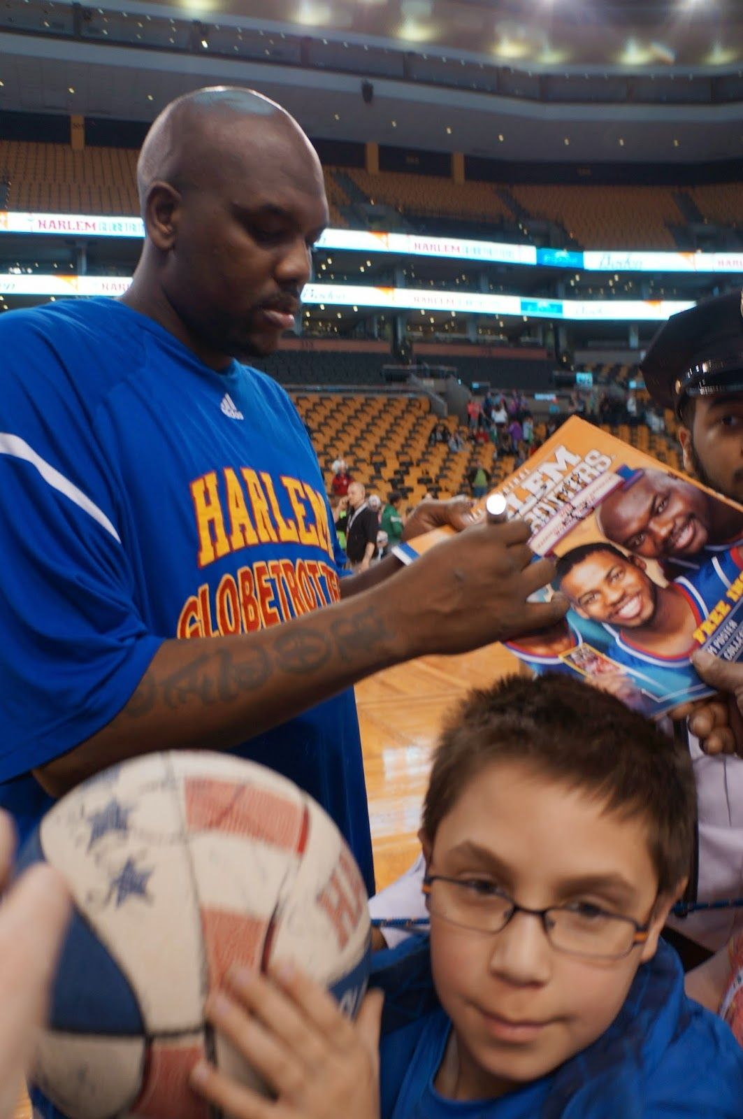 3/29/15 Harlem Globetrotters Fun at the TD Garden Boston