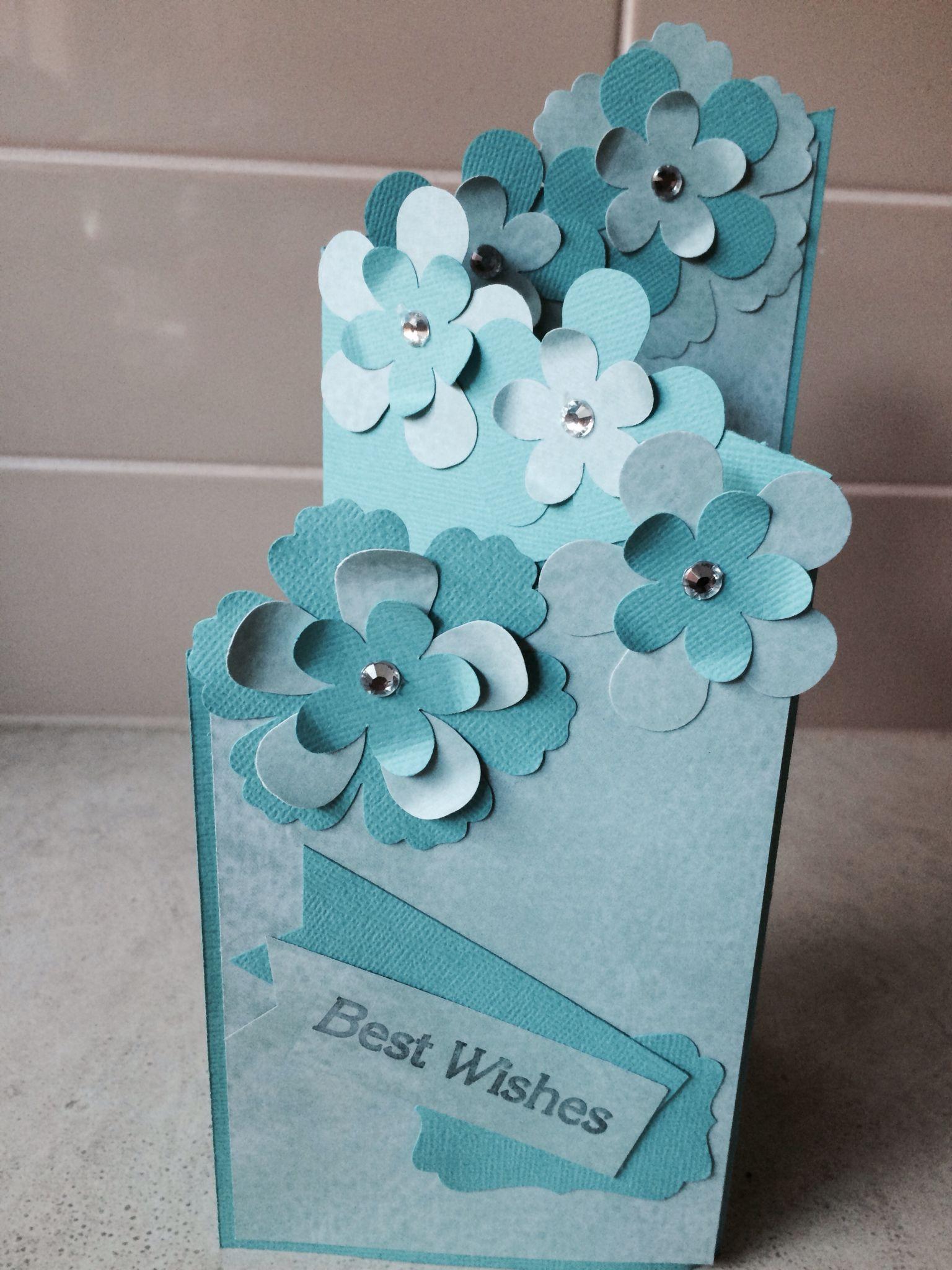 Blue Tri fold card