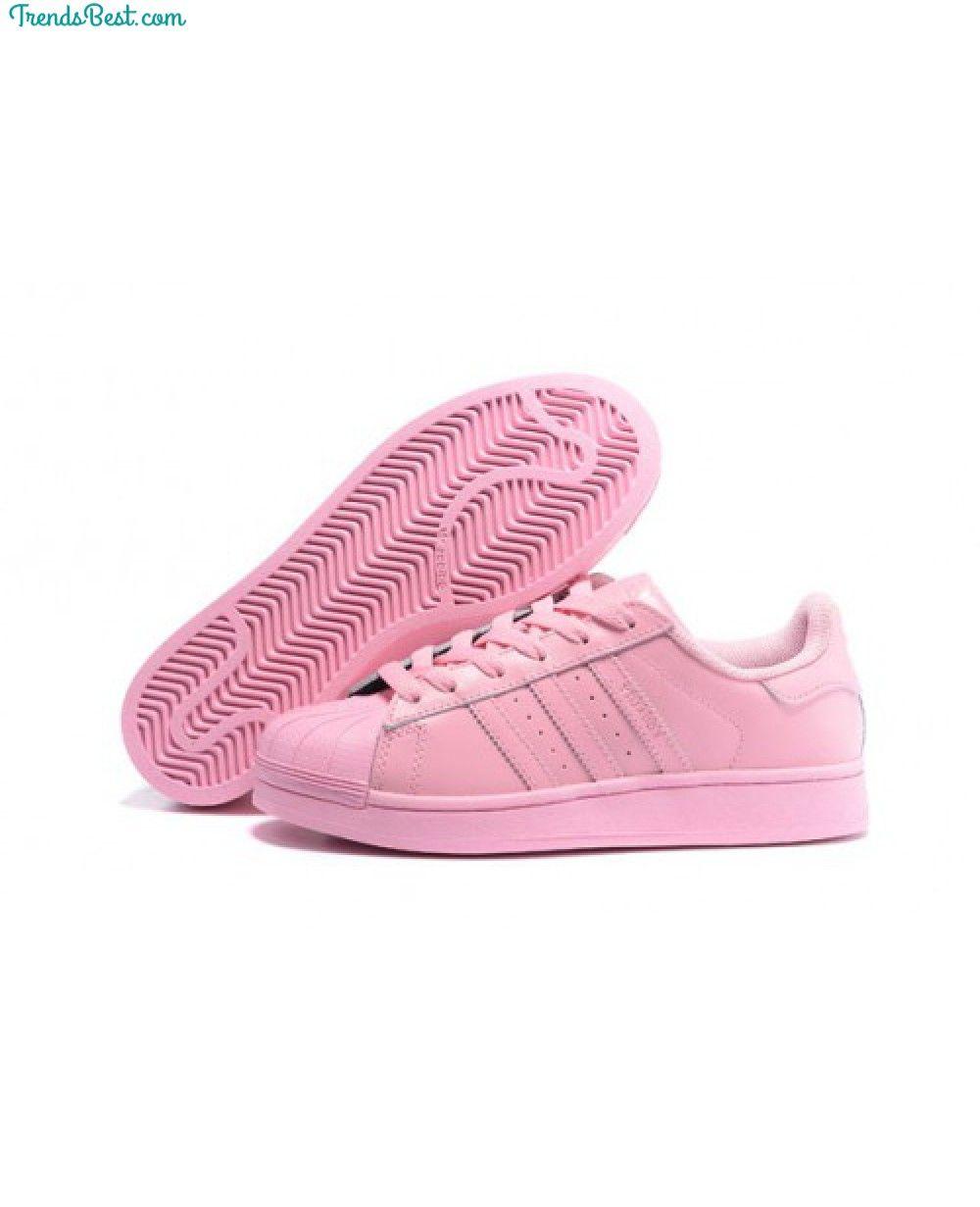 adidas originals superstar womens pink and white