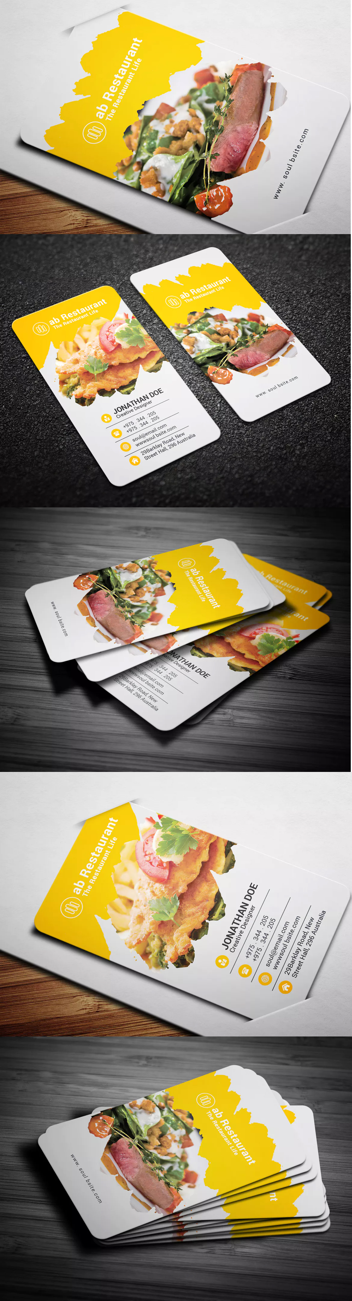 fresh photograph of restaurant business cards business cards and