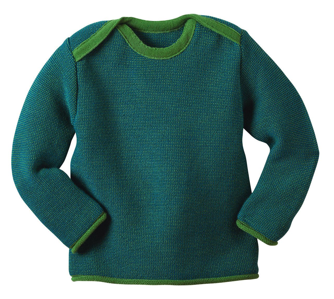 b5de8e780fb Organically Baby - Organic Wool Mélange Jumper in Green from Disana - Made  in Germany