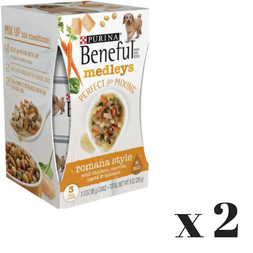 4751619a243 *Purina Beneful Romana Style Medleys Dog Food 3 Oz 3 Count Pack of 2 ***  Check out the image by visiting the link. (This is an affiliate link)  #dogfoodwet