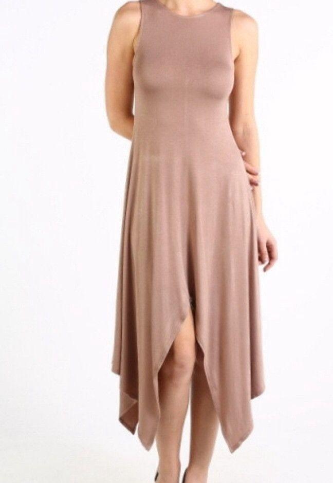 Jersey Cascade Dress