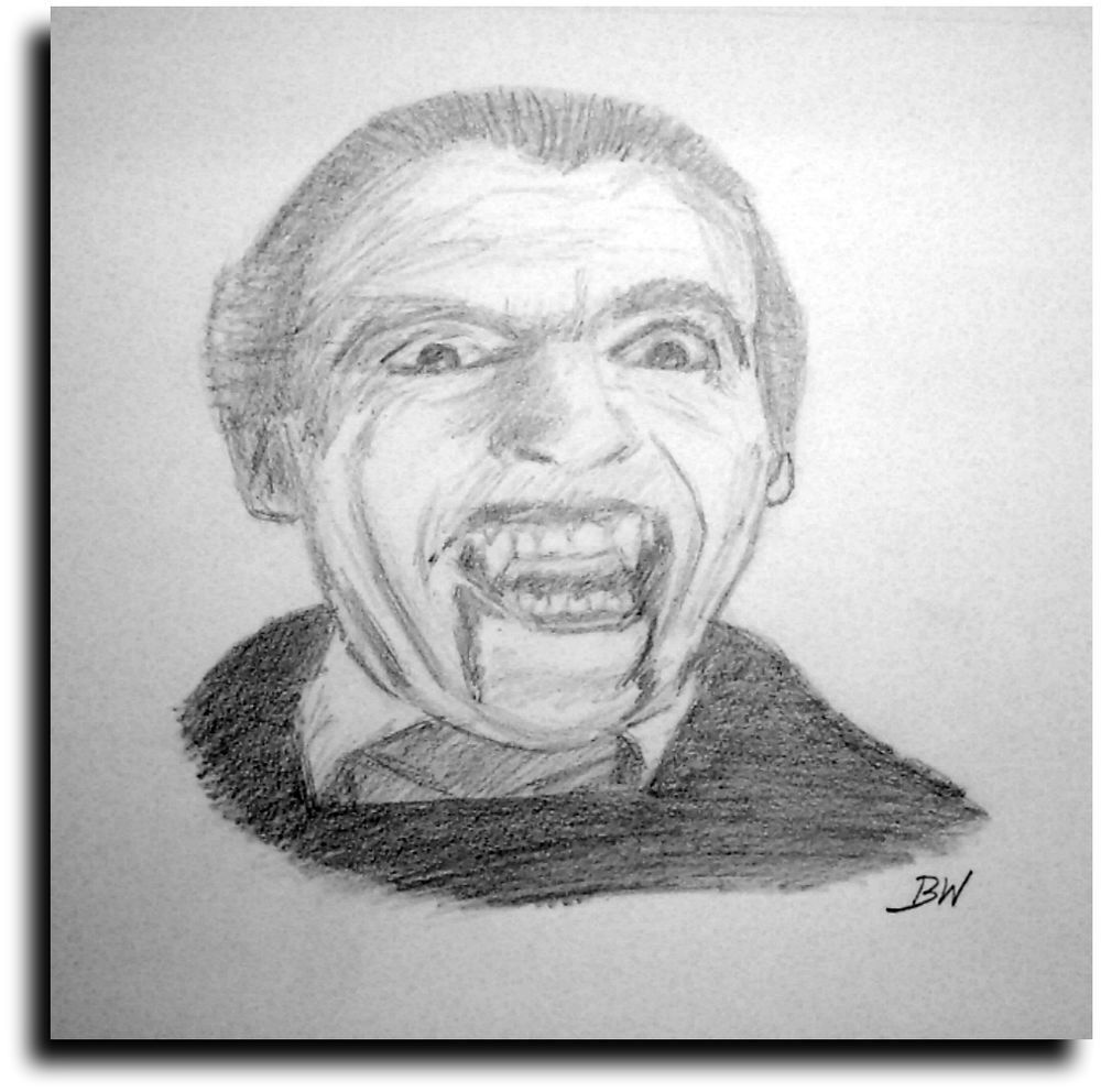 CHRISTOPHER LEE/DRACULA/ CELEBRITY REALISM GRAPHITE PENCIL ...