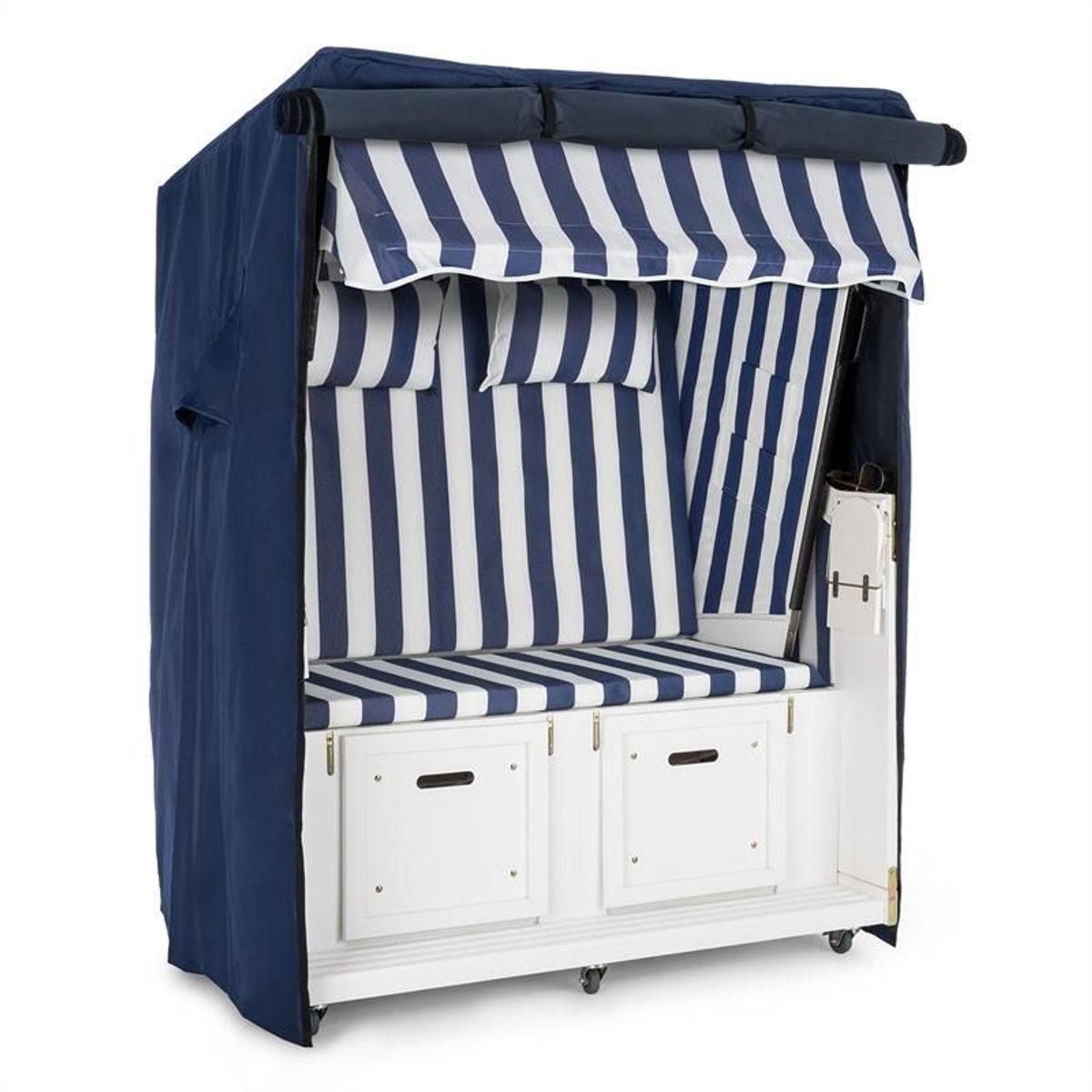 Set Abri Plage Cabine Chaise Longue 2 Places Housse Roulettes Bleu Taille Taille Unique Cabine De Plage Abri Plage Et Abri De Plage