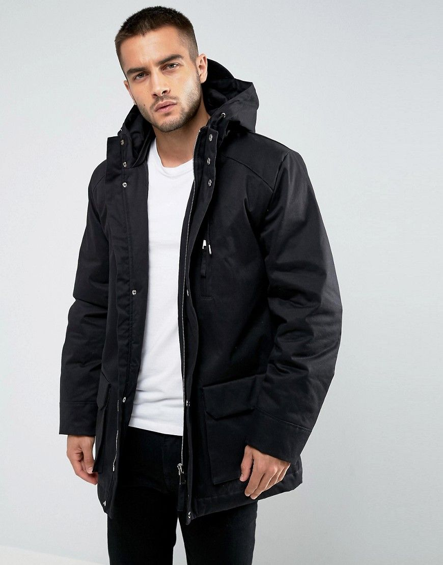 Hooded cloth Black Bellfield Men bellfield Parka g4zzdO