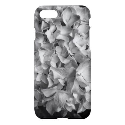 Phone Case iPhonr 8/7  Hydrangea Black and White - black gifts unique cool diy customize personalize